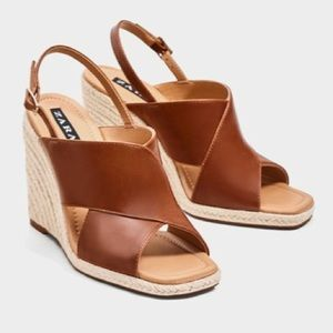 NEW ZARA Wedge Shoes Size 7